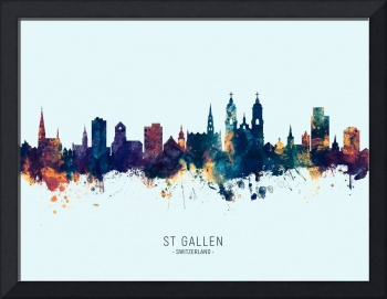 St Gallen Switzerland Skyline