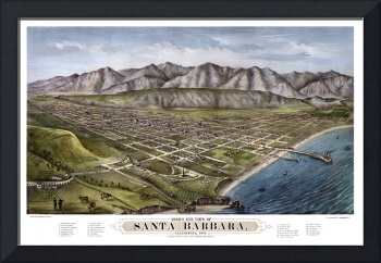 Santa Barbara Bird's Eye View 1877