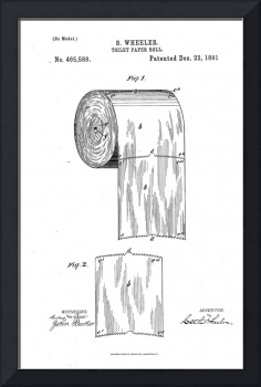 Vintage Toilet Paper Invention Patent (1891)