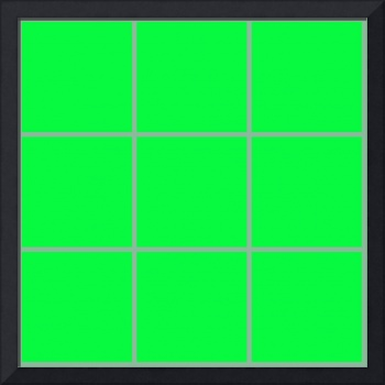 Green Window 010 Canvas Contemporary Modern