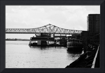New Orleans boat dock on the River Walk