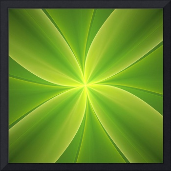 Concise Green Abstract Flower