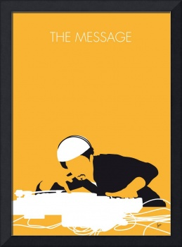 No114 MY Grandmaster Flash Minimal Music poster