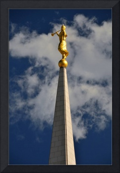 Oquirrh Mountain Temple shot august moroni