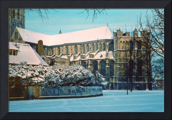 Canterbury Cathedral in Snow, early 1961
