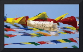 Prayer Flags In The Wind, Nepal