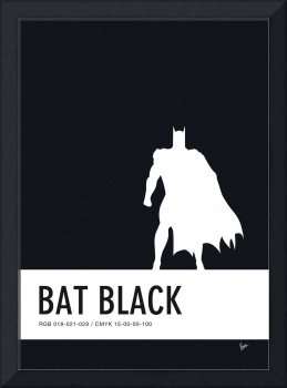 No20 My Minimal Color Code poster Batman