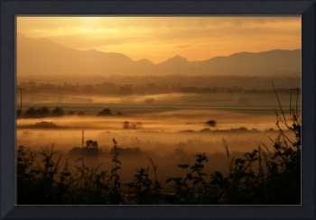Snohomish valley golden sunrise