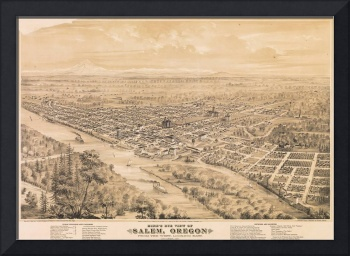 Eli Sheldon Glover~Bird's Eye View of Salem, Orego