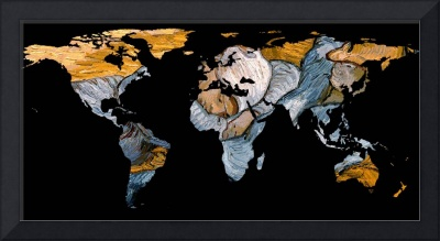 World Map Silhouette - A Resting World