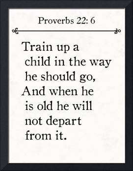 Proverbs 22:6- Bible Verse Wall Art Collection