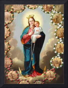 Our Lady of Rosary Virgin Mary Madonna and Child