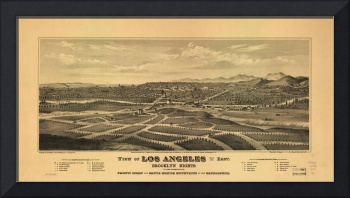 1877 Los Angeles & Brooklyn Heights, CA Panoramic