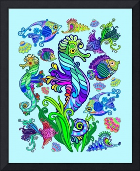Marine Life Exotic Fishes and SeaHorses Ornamental