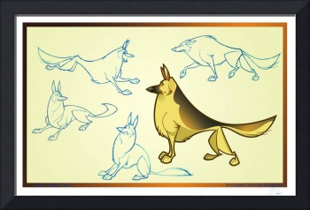 Animated German Shepherd