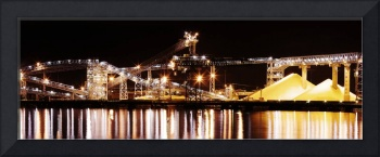Shipping Industry Dock night Vancouver photograph
