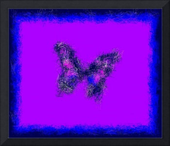 Abstract Indigo Butterfly