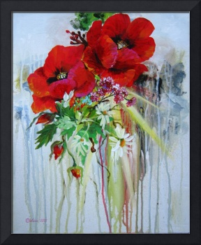 Etude with Poppies
