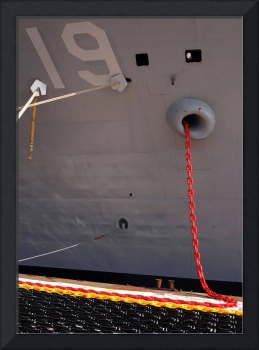 A new12shot anchor chain is hauled aboard the comm