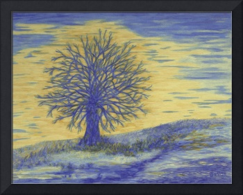 Fine Art Prints Blue Wall Art Oak Trees Modern
