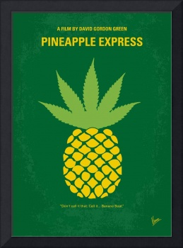 No264 My PINEAPPLE EXPRESS minimal movie poster