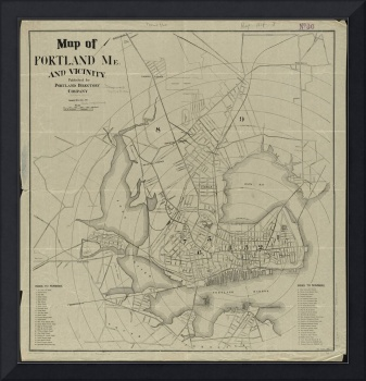 Vintage Map of Portland Maine (1902)