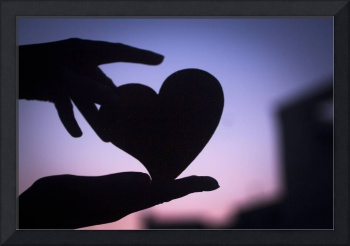 Love heart shape in hands photograph romantic vale