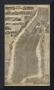 Vintage Map of New York City (1879) 4