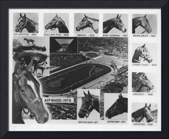 Vintage Horse Racing Head Shots Seattle Slew