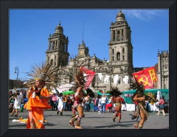 mexico city zocalo dance fiesta