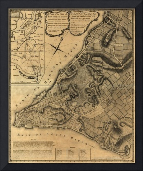 A Plan of the City of New York Map (1766)