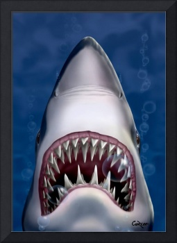 Jaws Great White Shark Sea Life Ocean Art