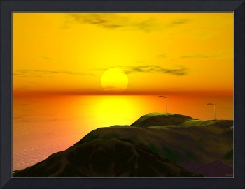 A Digitally Rendered Sunset