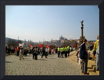 A Protest in Prague 3