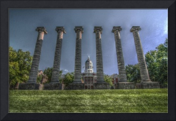 Jesse Hall and Columns HDR