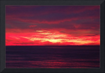Fire in the Sky - Beach Sunrise in Ocean City