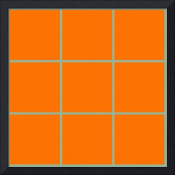 Orange Window 097 Canvas Contemporary Modern