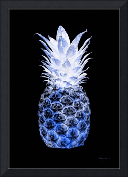 14J Artistic Glowing Pineapple Digital Art Blue