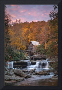 Babcock Mill Autumn Sunrise in West Virginia by Co