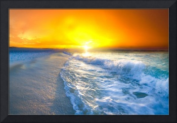 red gold sunrise seascape landscape photography
