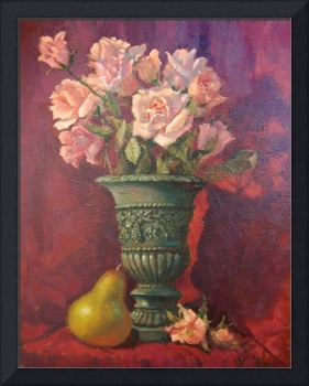 Pink Roses and Pear