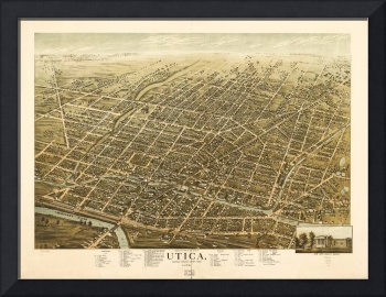 Bird's Eye View of Utica, New York (1873)