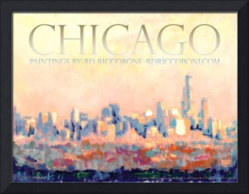 Chicago Poster by RD Riccoboni