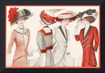 Ladies In Red 1910