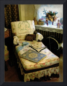 Mother's Chintz Chaise in the Corner