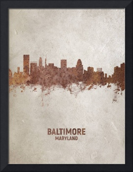 Baltimore Maryland Rust Skyline
