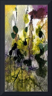 Moss and Earth Intuitive Tall #2 Abstract by Ginet