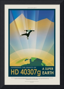 NASA Experience the Gravity Space Travel Poster
