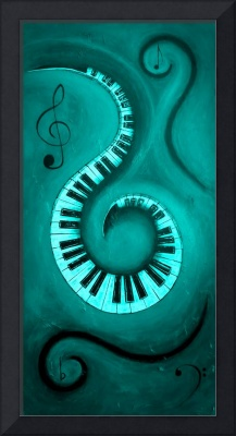 Teal - Swirling Piano Keys - Music In Motion