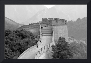 Great Wall of China in Black and White